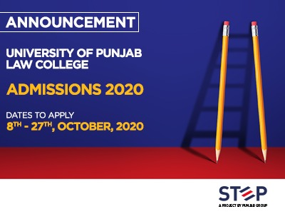 University of the Punjab LAW College Admissions 2020