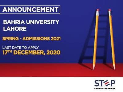 Bahria University Lahore Spring – Admissions For 2021