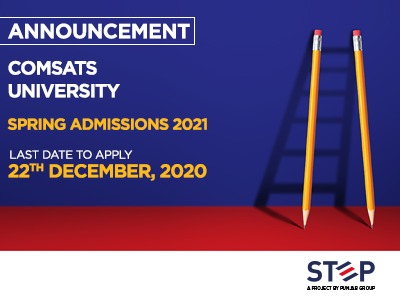 COMSATS UNIVERSITY Spring Admissions For 2021