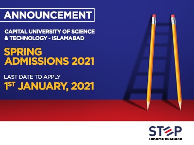 Capital University of Science & Technology – Islamabad Spring Admissions 2021