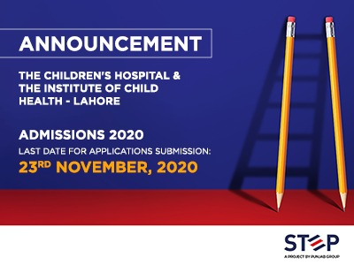 The Children's Hospital & The Institute of Child Health – Lahore Admissions 2020