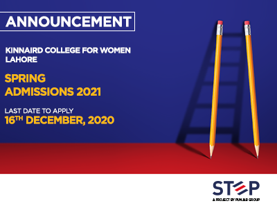 Kinnaird College for Women – Lahore Spring Admissions 2021