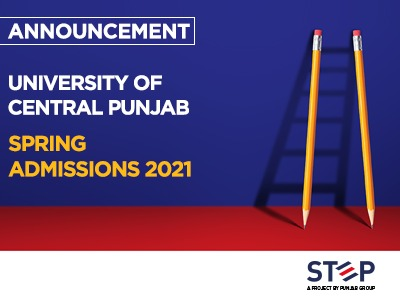 UCP – University of Central Punjab Spring Admissions 2021