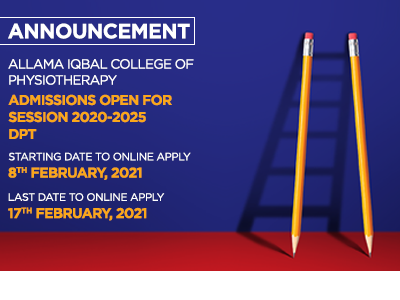 Allama-Iqbal-College-Of-Physiotherapy-Lahore-Admissions open for session 2020-2025