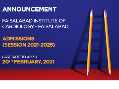 Faisalabad Institute of Cardiology Faisalabad Admissions Session 2021-2025