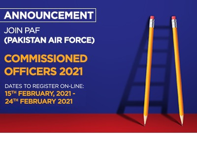 Join PAF (Pakistan Air Force) as Commissioned officers 2021