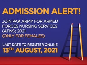 Join Pak Army for Armed Forces Nursing Services (AFNS) 2021