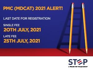 PMC (MDCAT) 2021 ALERT!