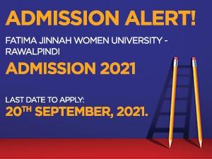 Fatima Jinnah Women University -Rawalpindi Admissions-2021