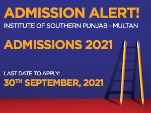 Institute of Southern Punjab - Multan Admissions 2021