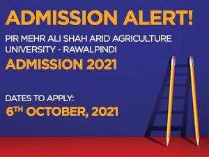 Pir Mehr Ali Shah Arid Agriculture University - Rawalpindi Admissions 2021