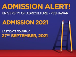 University of Agriculture - Peshawar Admissions 2021